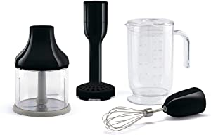Smeg HBAC01BL Accessory Set for HBF01 50's Retro Style Hand Blender, Black
