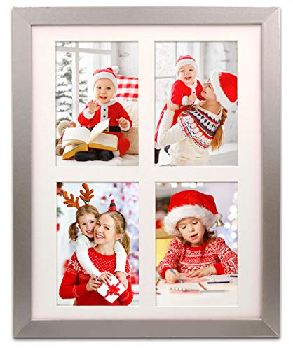 Amazon Com 11x14 Picture Frame With Mount Wood Beveled