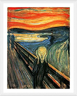 Alonline Art The Scream Edvard Munch FRAMED Cotton Canvas For Home Decor READY TO HANG Wall Art Museum Quality Frame Frames