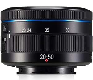 Samsung EX-S2050BNB - Objetivo zoom estándar para cámara Samsung de la serie NX (distancia focal 20-50 mm, apertura f/5.6-3.5, zoom óptico 2.5x,diámetro: 40.5mm) negro