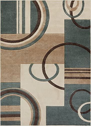 Well Woven Mint Galaxy Waves Modern Abstract Arcs and Shapes 9 3 x 12 6 Area Rug