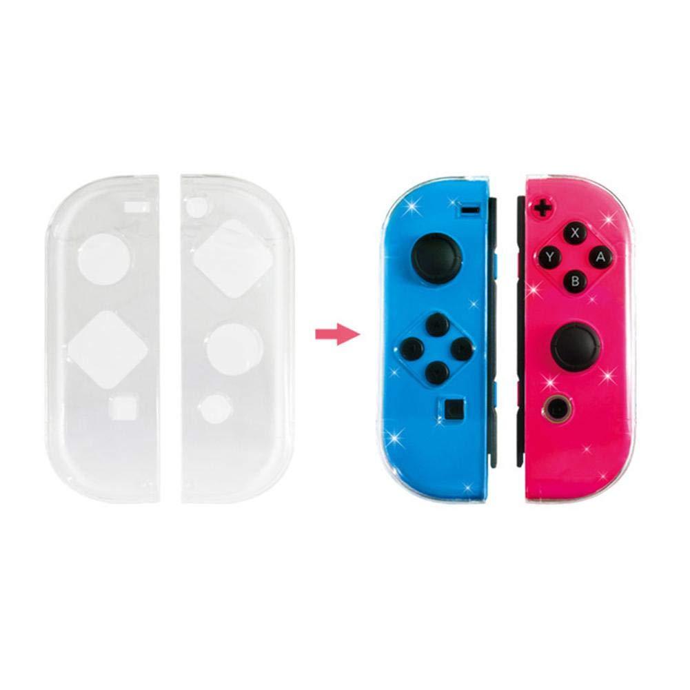 Coque Transparente de Remplacement pour poign/ée de Jeu Switch Joy-Con.Etui de Protection Anti-poussi/ère//Anti-Rayures pour Gamepad Joy-Con