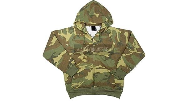 Amazon.com  Tri-color Camo Thermal Lined Zipper Sweatshirt  Military  Apparel Shirts  Clothing 01dc6ab8fec
