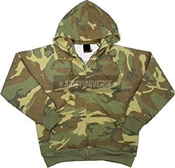 Amazon.com  Tri-color Camo Thermal Lined Zipper Sweatshirt  Military ... 18a51062b00