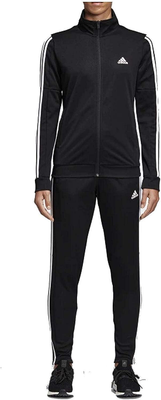 Black//Black//White adidas Womens Lifestyle Sport Tracksuit
