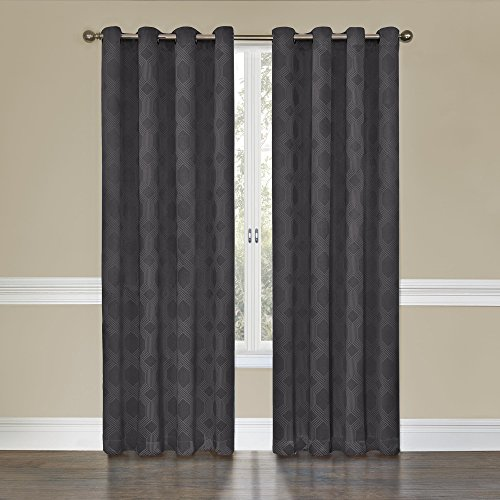 Eclipse Tatum Grommet Blackout Curtain Panel, 63-Inch, Smoke
