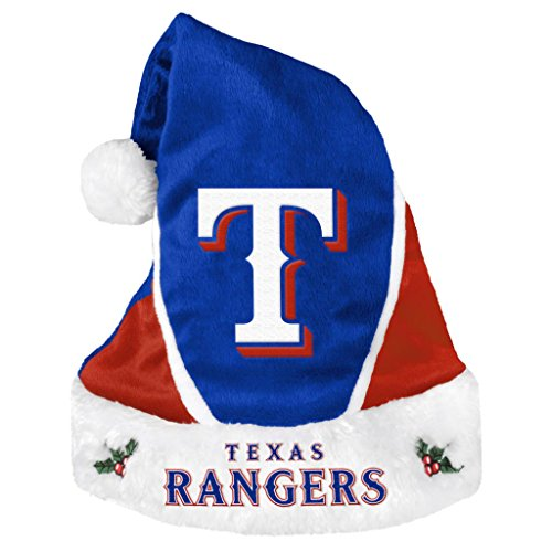 Texas Rangers Official MLB Colorblock Christmas Santa Hat by Forever Collectibles 608402 Mlb Santa