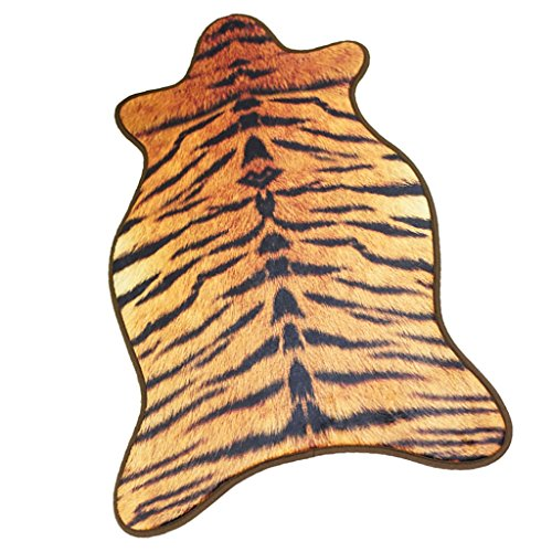Tiger Skin Rug - Homyl 2x3' 55x90cm Non Slip Faux Carpet Animal Skin Rug Bedroom Floor Area Rug Mat - Tiger