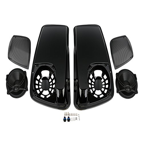 XMT-MOTO XMT-MOTO Saddlebag Lids W/5×7 Speakers For Harley-Davidson Touring models FLT, FLHT, FLHTCU, FLHRC, Road King, Road Glide, Street Glide, Electra Glide, Ultra-Classic 2014 2015 2016 2017 2018 price tips cheap