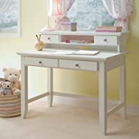 Home Styles 5530-162 Naples Student Desk and Hutch, White Finish