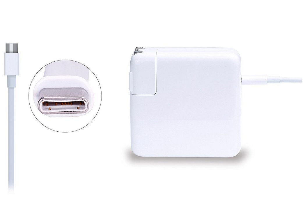 61W USB-C Power Adapter Charger with USB-C to USB-C Charging Cable (2 Meters)