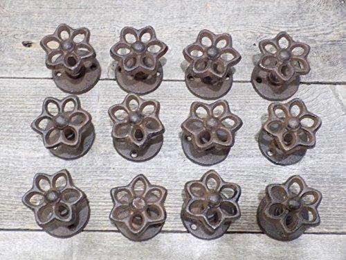 12 CAST Iron Faucet KNOB Spigot Flower Hooks Hydrant Coat HAT Drawer Pull Rack