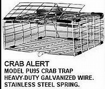 Tackle Factory Cuba Automatic Pop Up Crab Trap, Silver ()