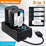 LCD Smart Battery Charger, Universal Battery Charger with Individual High-speed Charging for AA AAA NiMH NiCd 18650 26650 22650 18490 18350 17670 17500 16340 14500 10440 Li-ion Batteries (2 slot)