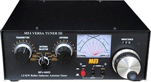 MFJ Enterprises MFJ-962D 1 8-30 MHz Versa Tuner III AirCore Roller iductor  Antenna Tuner Handles 1500 Watts PEP SSB Amplifier Input Power (800 Watts