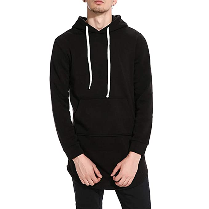 73aca6586 Raylans Men's Classic Hip Hop Pullover Long Hoodie Sweatshirts Slim Coat  Jacket