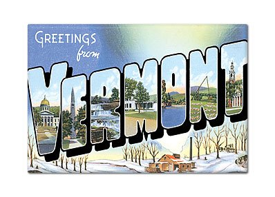 (Greetings from Vermont Fridge Magnet)