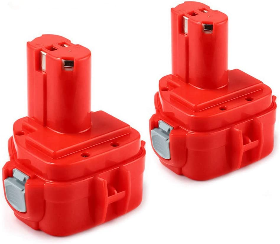2X FUNMALL 12V 3600mAh Batería Ni-MH de Alta Capacidad Baterías para Makita PA12 1220 1222 1233 1234 1235 1235F 192598-2 192681-5 193981-6 638347-8 638347-8-2