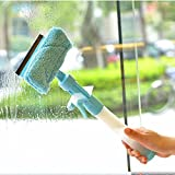 Magic Spray Brush Multifunctional Convenient Glass Cleaner Brushes Cleaning Magnetic Window Wiper Washing The Windows Of Car (blue)