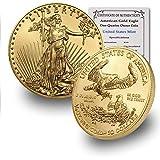 2020 1/4 oz Gold American Eagle BU In Coin Flip