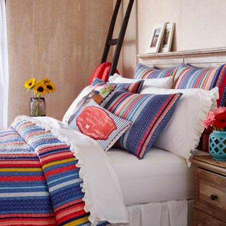 The Pioneer Woman Quilt Bedding Bedspread Barn Dance King Quilt 104 x 92