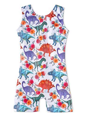 (Gymnastics leotards for toddler girls dinosaur 2t 3t toddlers unitard white flower floral )