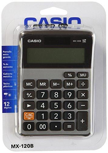 Casio MX-120B-S-MC Calculadora Escritorio, 12 Dígitos, Teclas Plásticas