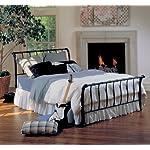 Hillsdale Furniture 1655BQR Janis Metal Sleigh Bed Set with Rails, Queen, Textured Black