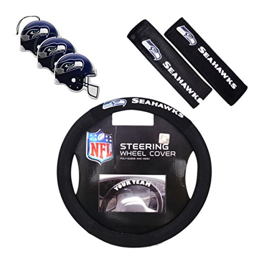 Fremont Die/TeamProMark Official National Football League Fan Shop Authentic Auto Accessories Bundle (Seattle Seahawks)