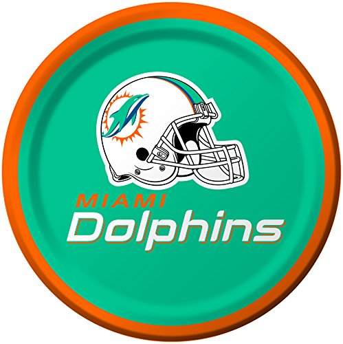 Creative Converting 8 Count Miami Dolphins Paper Dessert Plates