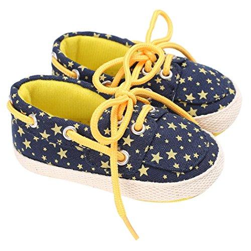 Hunpta Baby Schuhe Boy Girl Neugeborene Crib Soft Sole Schuh Sneakers Gelb