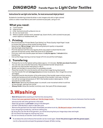 25 sheets dark fabric inkjet heat t shirt transfer paper 8 for Avery t shirt transfer paper for laser printers