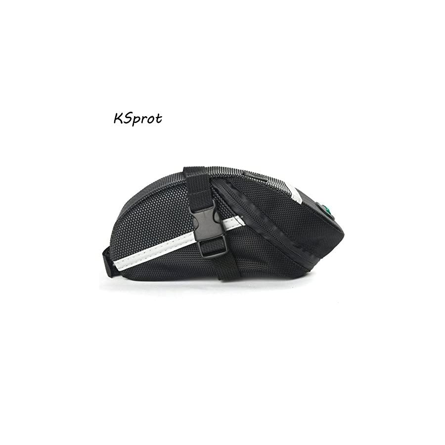 KSprot Bicycle Saddle Bag, Pocket Seat Pack Bike Rear Sack Toolkit Waterproof Black