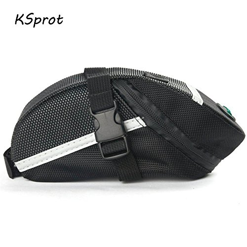 KSprot Bicycle Saddle Bag, Pocket Seat Pack Bike Rear Sack Toolkit Waterproof Black