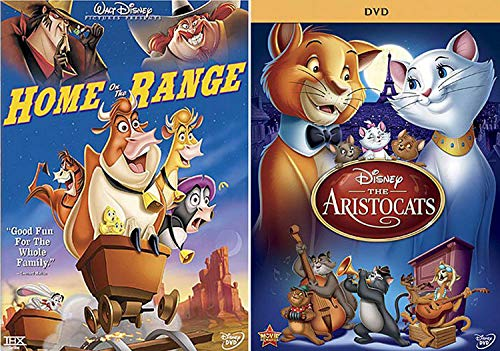 (Everybody wants to be a cat! Aristocats + Tales: Disney's Home On The Range Double Feature DVD Pack Fun animal movie blast)