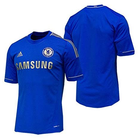 071388670a5 Amazon.com : adidas Youth Climacool Chelsea Home Jersey Blue/Gold ...