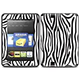 "Kindle Fire HD (fits 7"" only) Skin Kit/Decal - Zebra"