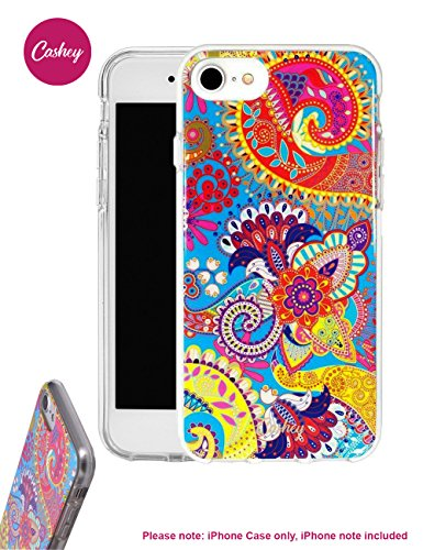 iPhone 7 Paisley Phone Case | Designer Protective Case in Paisley Pattern for I phone 8 / 7 / 6 / 6s | Durable Classic Phone Cover w/ Raised Bezel for Full Protection & Anti Scretch By Cashey