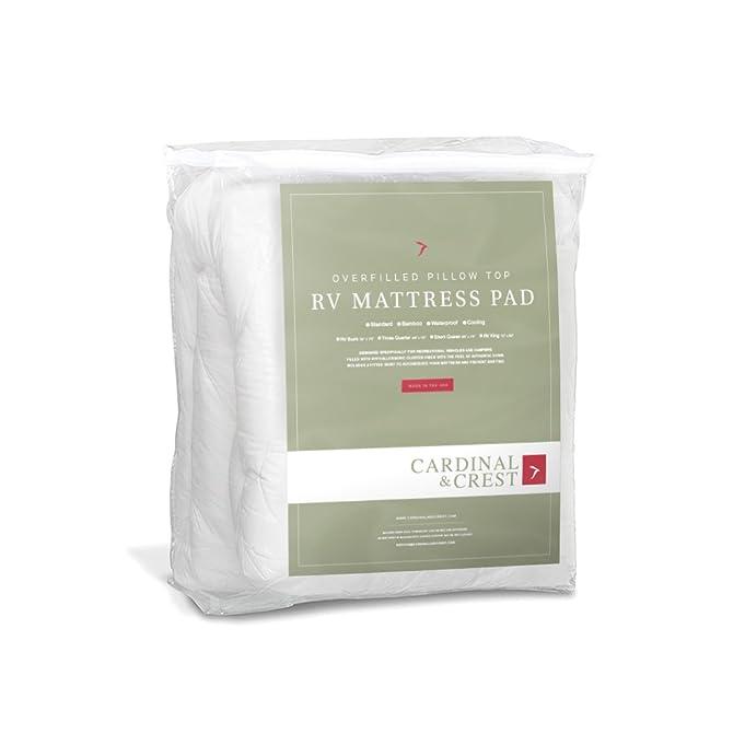 rv camper mattress amazoncom standard hypoallergenic overfilled pillow top rv