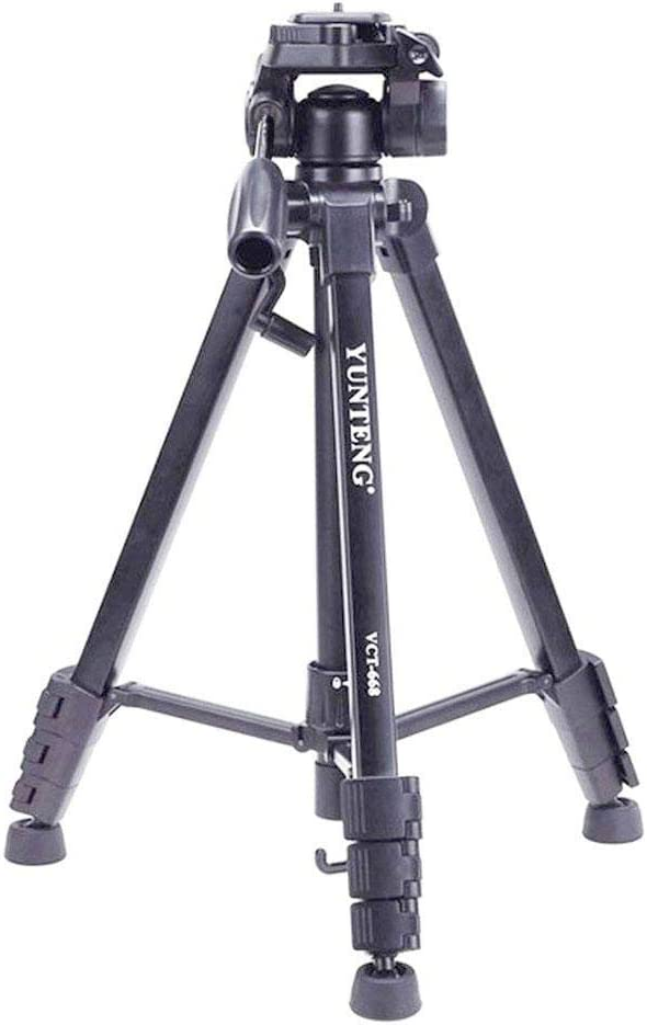 YUNTENG VCT 668 Professional Photo Video Tripod with Head Fluid Pan for Canon Nikon Sony SLR DSLR Cameras