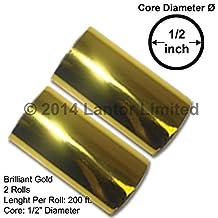 3 inch 400 Ft Hot Foil Stamp 2 x 200 Ft Rolls Gold KINGSLEY HOWARD by CNCShop