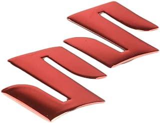 Demino 3D Motorcycle Placage Emblem Badge Decal réservoir Roue Logo S Autocollant de Protection Couverture Paster pour Suzuki Argent