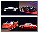 Vintage Ford Sports Car Picture Four Set Wall Home Decor Art Print Posters (8x10)