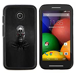 LECELL--Funda protectora / Cubierta / Piel For Motorola Moto E -- Robot Evil --