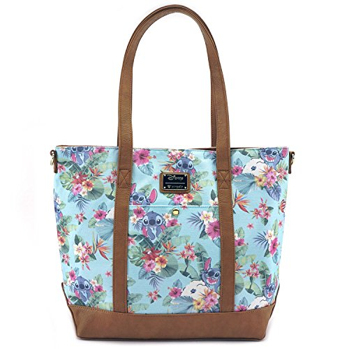 Disney Tote - Loungefly Turquoise Lilo All Over Print Canvas Tote Standard
