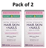 Nature's Bounty Extra Strength Hair Skin Nails, 150 Count,Pack of 2