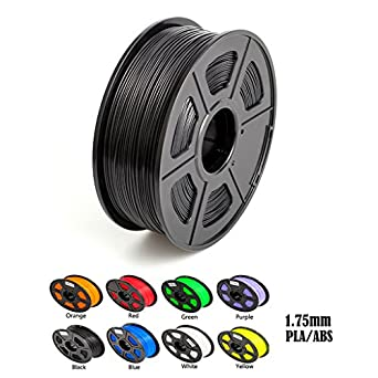 Aimple ABS 3D Printer Filament 1.75 mm Black 1kg(2.2Lbs)/Spool-Dimensional Accuracy +/-0.02mm