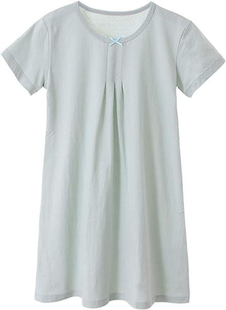 HOYMN - Camisón de manga corta para niña, de algodón suave, de 3 a ...