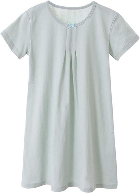 HOYMN - Camisón de manga corta para niña, de algodón suave, de 3 a 12 años Arco Corto Verde 4-5 Años: Amazon.es: Ropa y accesorios