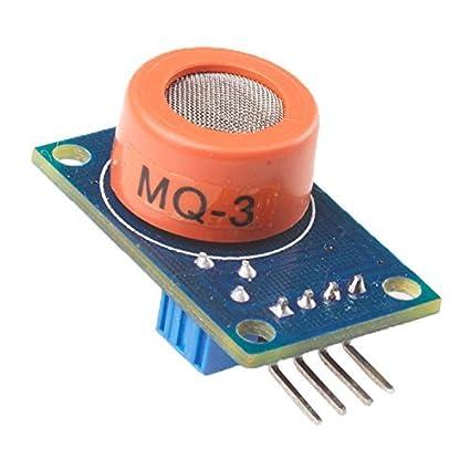 Amazon com: MQ3 Alcohol Sensor Module Breath Gas Detector